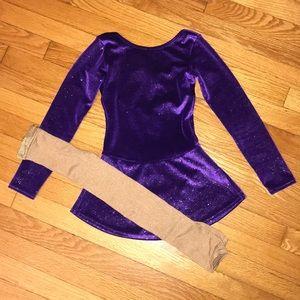 Mondor Ice Figure Skating Dress Tights - Size 8/10